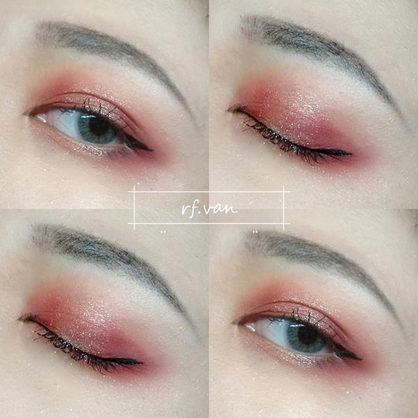 鐵鏽紅色系妝容 不得不說 Solone的單色眼影真的非常的好用👏 非常的顯色而且好暈染 飛粉狀況也