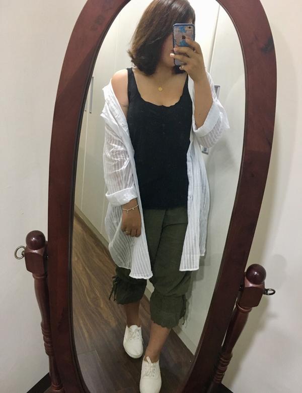 #棉花糖女孩 #穿搭 長版襯衫的季節來了🍂  #長版襯衫好修飾 #衣服不穿好 #我是棉花糖164/