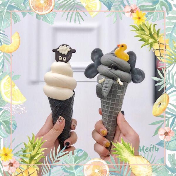 天冷就是要吃霜淇淋呀( ˃᷄˶˶̫˶˂᷅ )