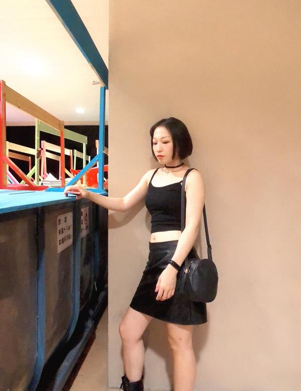 #暗黑系#頸鏈#皮裙