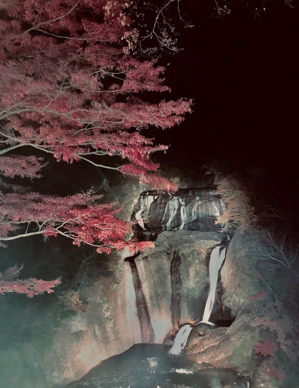 楓葉配瀑布🍁 絕境❤️❤️