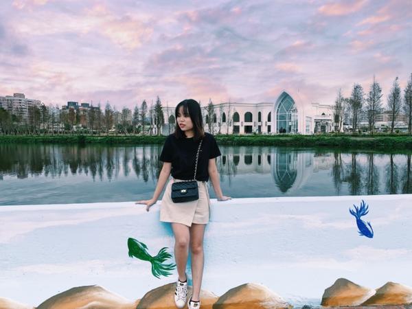 台灣🇹🇼桃園景點 莊敬大池這裡真的怎麼拍怎麼美❤️❤️❤️  如果想去的朋友可以直接google