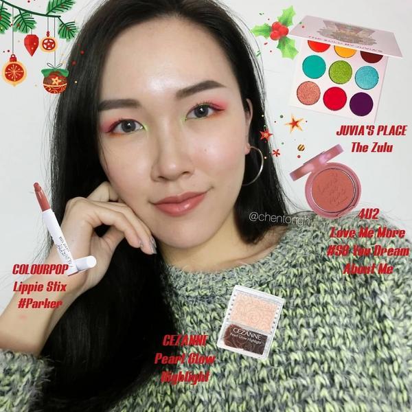 Christmas🎄MOTD💞 萬紅中一點綠❤💚眼妝步驟看上一篇🤗 / -眼影 @juvia
