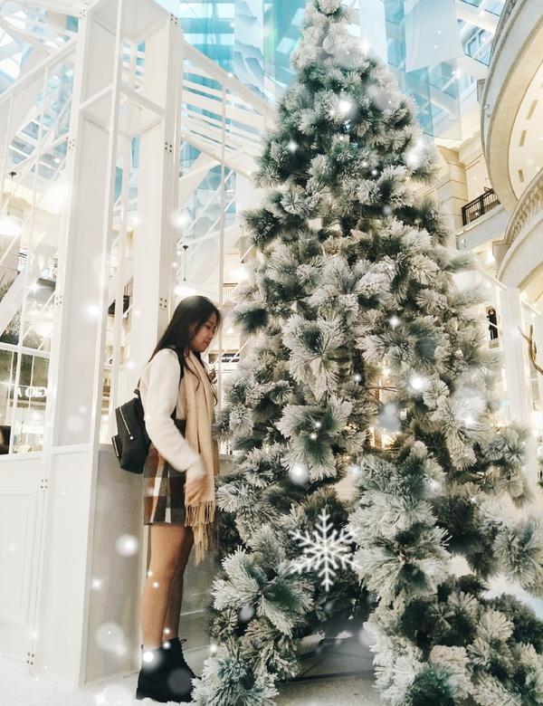【聖誕特輯】臺北•BELLAVITA ❄十二月的奇蹟❄白色聖誕樹