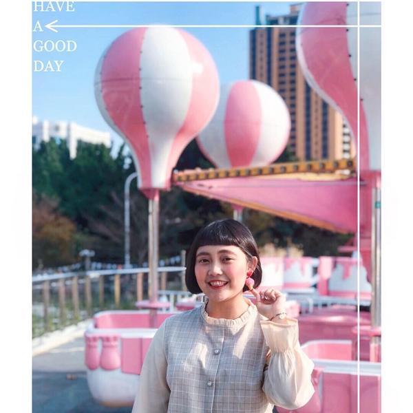 🍦2019/03/15 好久沒來#草悟道 這次粉紅樂園又多了幾項新的遊樂設施! 這巨大粉紅樂氣球實