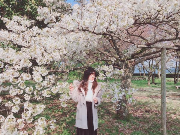 白櫻🇯🇵🌸第一次賞白櫻花,雖不如粉櫻那樣的嬌嫩,卻帶有一種輕輕的飄逸感,與它合照好像可以沾染些