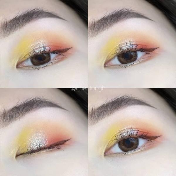 """EOTD👀全臉妝與步驟右滑👉 好久不見的""""是的請"""" 😆 畫了一個檸檬橘子妝 是最能代表這盤的顏"""