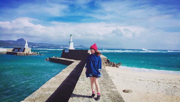 墾丁星砂灣蔚藍的海彷彿身在國外