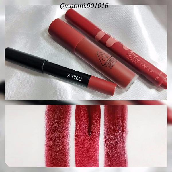 【紅唇合集】#深紅色系 - 深紅色的魅力 你們抵擋的住嗎 ...我是抵擋不住啦 (TヘT) 顯白又有