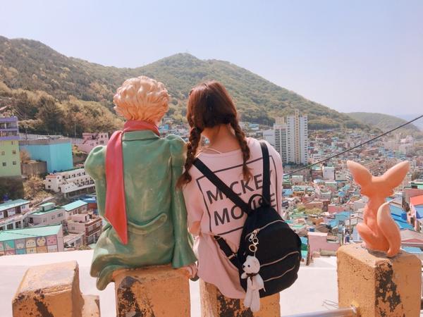 ✈️五福旅遊-釜山之旅day3(甘川洞文化)這次很幸運的❤️ 能夠遇到一位很大剌剌好相處的在地導遊�