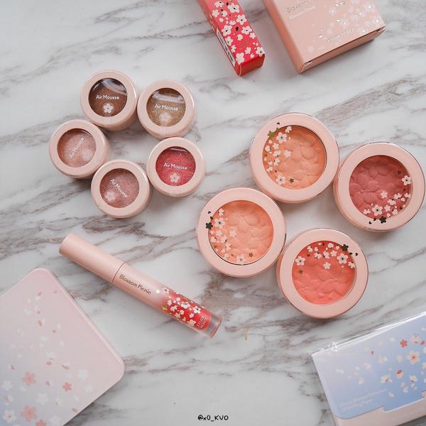 Etude House 粉嫩櫻花野餐趣完整的上妝過程和心得 可以點ig到Youtube看唷! 🔍橙