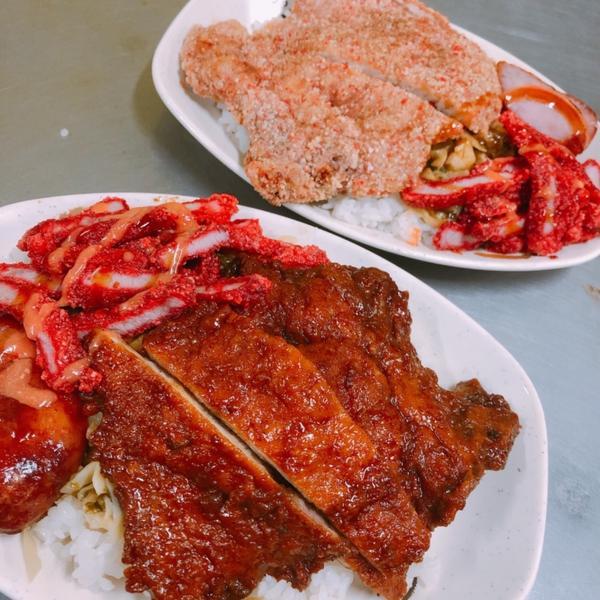 樹林美食地圖 阿義腿庫飯一間越晚越有人潮的古早味飯菜  滿滿的燒肉 滿滿的排骨 滿滿的白飯 滿滿的筍