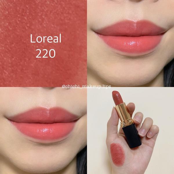 Loreal 220 溫柔蜜桃🍑玫瑰色這是 純色訂製唇膏 柔霧款220 第N次初戀 當初在架上試到