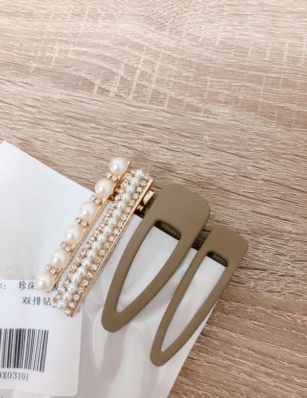 淘寶戰利品珍珠髮夾+純色髮夾 很好用😂😂😂