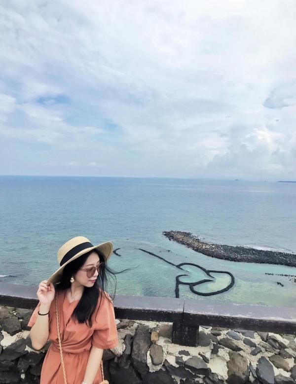 澎湖 · 雙心石滬/小台灣這裡也是七美必來景點 以前總是在網路上看看別人照片上的雙心石滬 現在自己能