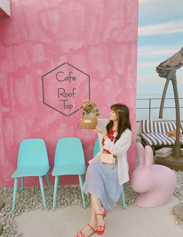釜山青沙浦咖啡廳/二訪Cafe Roof Top才說完絕對會二訪結果我就出現在這了!😎(上次來頂樓