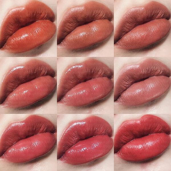 人肉色票唇部試色💋🔥/ 今天終於登場的 9位唇膏們 從南瓜色到玫瑰色到番茄色 從霧面到亮面到