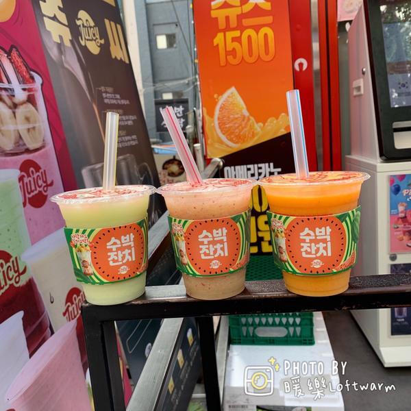 JUICY 쥬씨 韓國果汁飲料店好喝的甜甜🥤飲料。 來韓國都會買一下JUICY。 這個季節肯定🙆