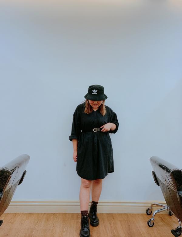 黑的日常#棉花糖女孩 #ootd #中山站