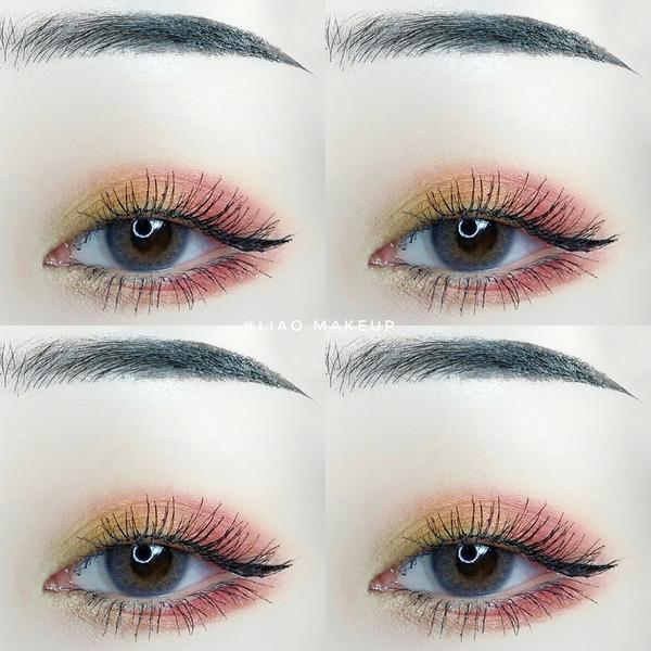 陽光照射的玫瑰眼妝🌹某晚突然很想要紅黃配色⠀ 就馬上畫了這個眼妝(⁎⁍̴̛ᴗ⁍̴̛⁎)⠀ 用的眼影