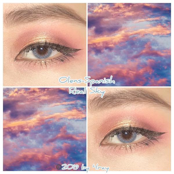 隱眼 Olens Spanish- Real Sky 分享那個藍中帶粉的霓虹光有沒有Hen~漂~釀~