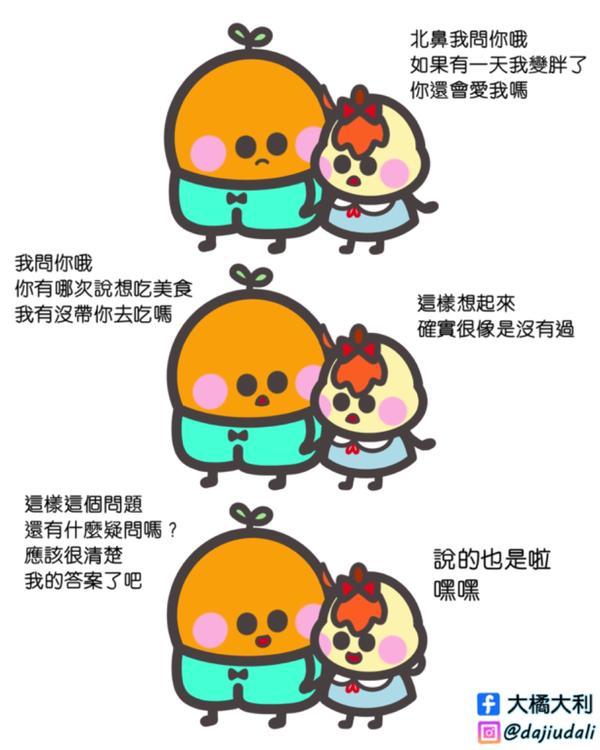 如果有一天我變胖了,你還會愛我嗎?女生愛問的問題之一ଘ(੭ˊᵕˋ)੭* ੈ✩‧₊˚ - #大橘大利