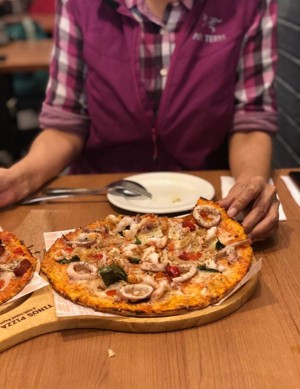 堤諾義式比薩|道地的義式比薩🍕貝殼麵有小驚喜平常礙於價錢不太敢吃義式料理的餐點,這次跟著爸媽終於來