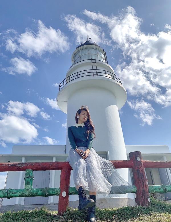 三貂角燈塔🌬風很大 要穿保暖呢! 但很美呢🌊
