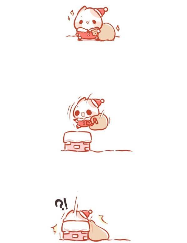 卡住的聖誕儀😂   #pinkcat小儀#圖文#插畫#粉紅貓#電繪#生活#聖誕節
