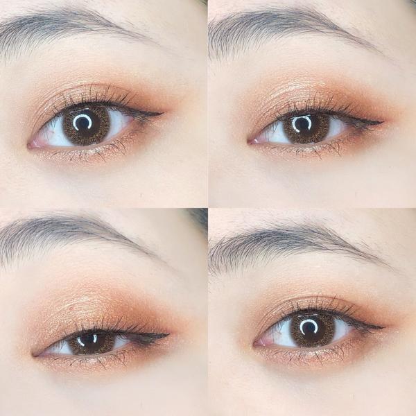 Essence榛果摩卡眼影盤#essence_cosmetics 《我的微光咖啡館-榛果摩卡》 這