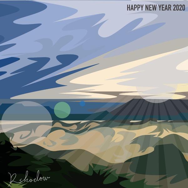 新年快樂_曙光2020新年快樂。  還有多少朋友熬著夜在等曙光呢?  新的一年又到了,生命又翻了新的