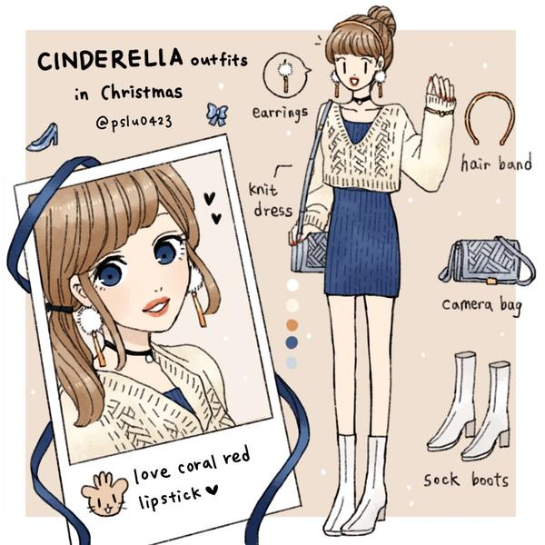 Cinderella冬天穿搭冬天系列穿搭🎄 Cinderella ootd in Winter