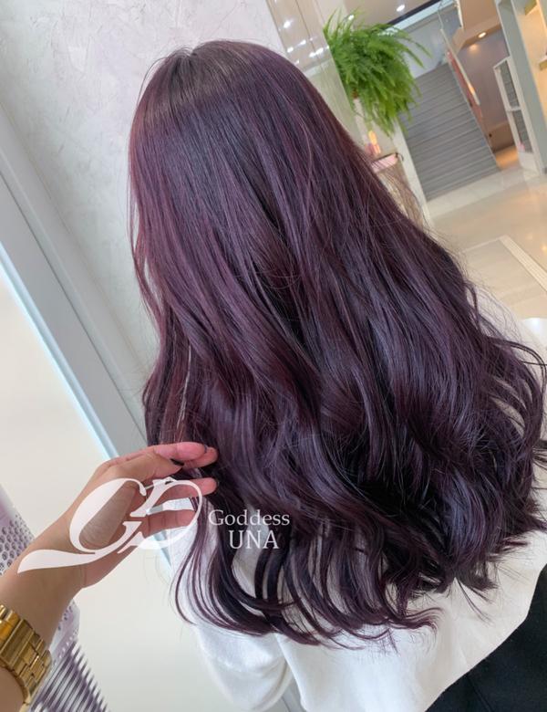 ⋞不用漂的紫色💜⋟ 真的真的不用漂就可以擁有它💜💜💜 ♡.搭配 #女神鉑金護髮  讓染完髮質