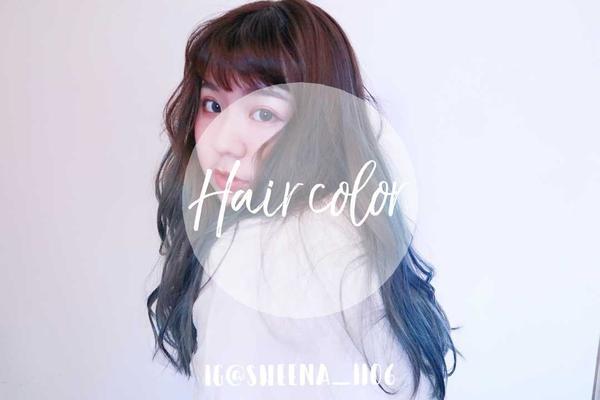 【髮色分享】漸層抹茶灰霧藍紫🌰🍵🍇▪台中染髮㊙漸層抹茶灰霧藍紫🌰🍵🍇 第一次漂髮獻給Lu