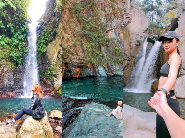 🇹🇼台灣中部三個最美的瀑布秘境💦🌳1⃣️谷關蝴蝶谷瀑布CP值很高唷~可以順便get谷關七雄老