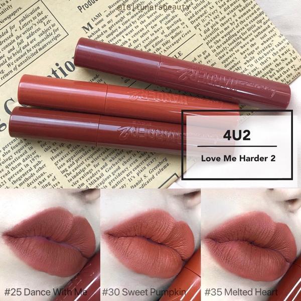 ❣️4U2霧感持色唇釉分享❣️ 4U2不只腮紅好看唇釉也是很厲害 新出的15色好幾支都好看餒 整體以