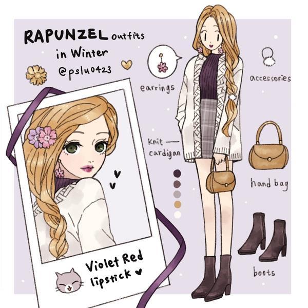 Rapunzel穿搭冬日系列穿搭💐 Rapunzel ootd in winter  Rapunz