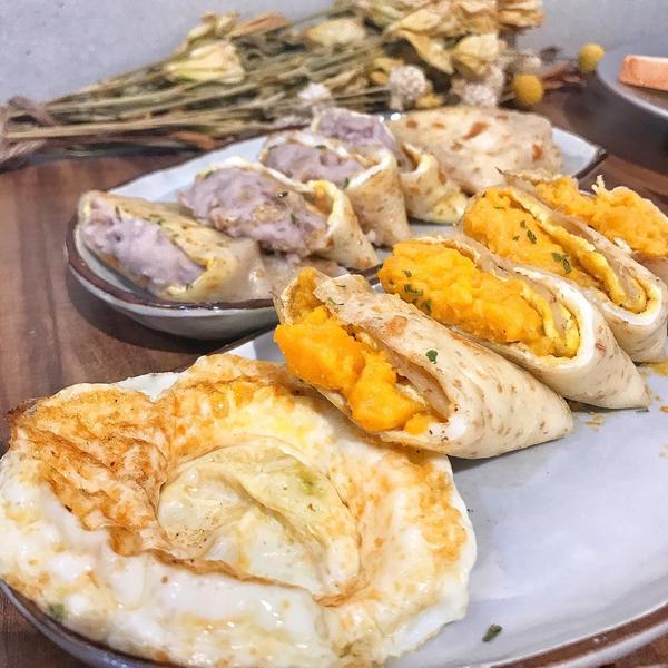 富士山の豬   燒爆的芋泥/地瓜蛋餅   台北中正美食《#台北#中正 ·#富士山の豬 》 . 🔺想