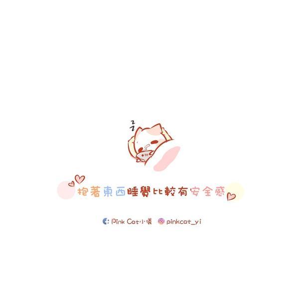 喜歡抱著東西睡覺❤️ . . #小儀の日常❤︎ #pinkcat小儀#圖文#插畫#粉紅貓#電繪#