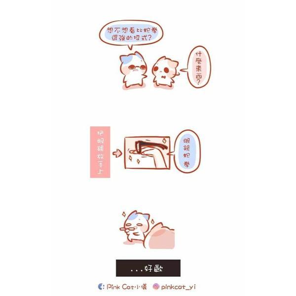 嗯 很毒的拳.....😂😂😂 . . #pinkcat小儀#圖文#插畫#粉紅貓#電繪 #小儀與