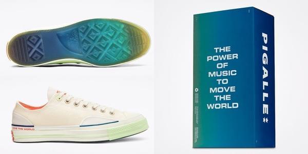 CONVERSE x CHUCK 70帆布鞋CONVERSE與法國街頭潮排PIGALLE聯手推出CH