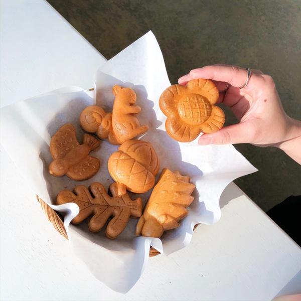 新竹動物園旁-森林食堂#妮莫吃遍新竹 - 🔸小栗子雞蛋糕NT$80 這雞蛋糕造型實在太燒人了啦 非