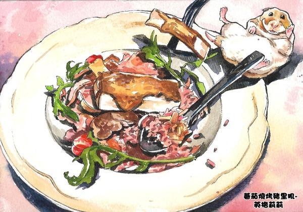 【食】中山誠品/Engolili英格莉莉輕食館/英倫情人套餐/話題豹紋厚鬆餅【🍀☕哈姆湘推薦圖文-