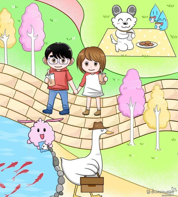 野餐去野餐的話, 潛艇堡就能買12吋的了😂 #illustration#art #sketch#d