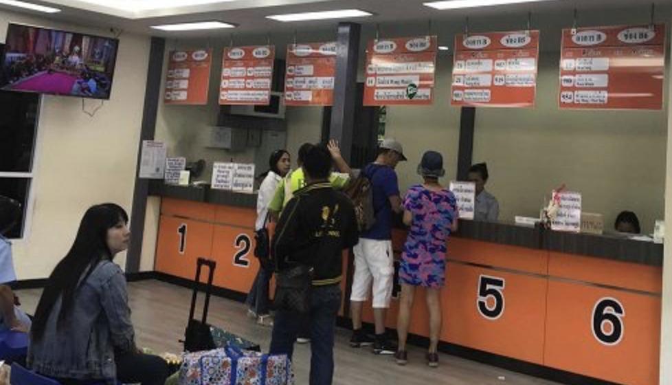 售票窗口示意圖,照片出處:https://thaiest.com/thailand/bangkok/mochit-van-terminal