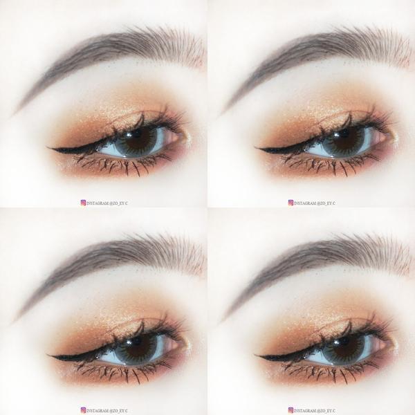 /我的第一盤CP😚 之前用這盤眼影盤都容易畫出紫紫紅紅的眼妝🍇🍷這次決定要用橘色系當主角啦,雖