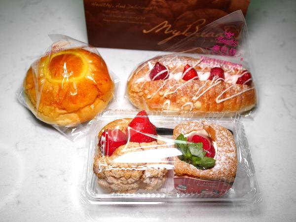 美食|麥仕佳專業烘焙(公益店)。熊寶小榆の旅遊日記。🍲公益路上的烘焙麵包店,店內東西很多,服務人員