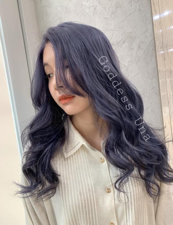 ⋞灰霧藍紫⋟ 又一個Una的特調藍紫 第一次漂髮就愛上我的特調💜💜💜 大感動😢😢😢 ♡.
