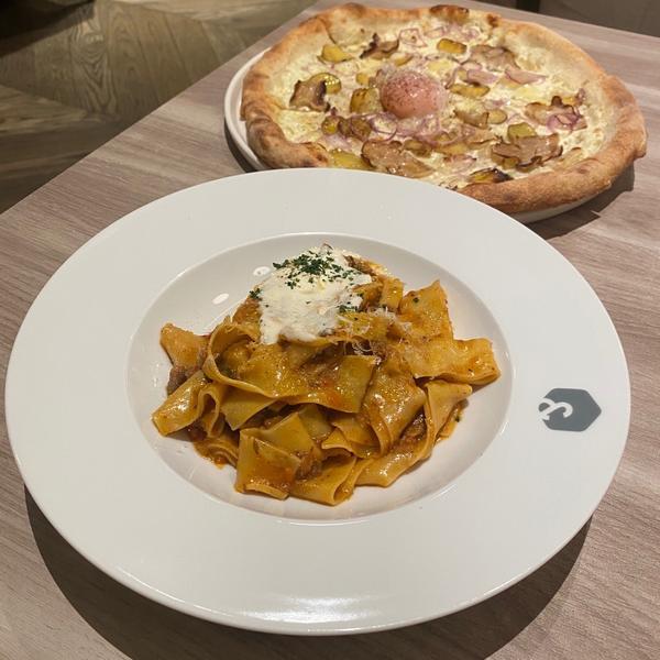 [台北|世貿]101內の高質感義大利餐廳🇮🇹📍salt&stone 🥄寬帶麵$360 🥄農