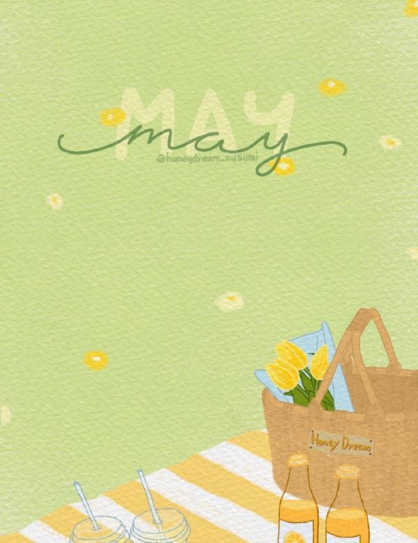 Wallpaper ♡︎May, I love you♡︎ 5月桌布分享真的是長越大感覺時間過的越快
